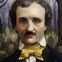"Edgar Allan Poe 2015 10 x-8"" oil on linen"