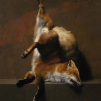 "Red Fox 1993 30 x 24"" oil on canvas"