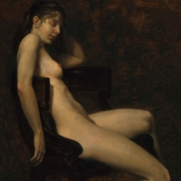 "Seated Nude 1982 16 x 12"" oil on linen"