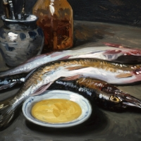 Oil Sketch, Schuler Demo fish