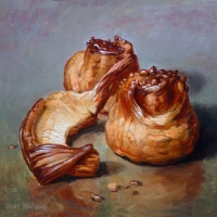 Oil Sketch, Sticky Buns 2
