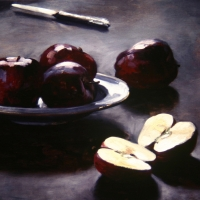 Oil Sketch, apples
