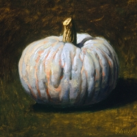 Oil Sketch, green pumpkin 2