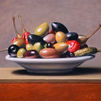 Oil Sketch, plate of olives 2