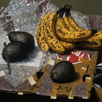 Bananas & Avacados 1994 14x16 oil on linen