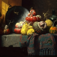 "Gourds  1986  24 x 30""  oil on linen"