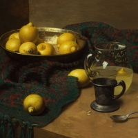 "Lemonade  1988  16 x 18""  oil on linen"