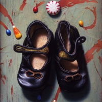 "Goodie Two Shoes  2005  10 x 7""  oil on linen"