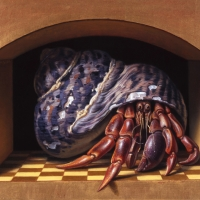 Hermit Crab  2000  6 x 8'  oil on linen
